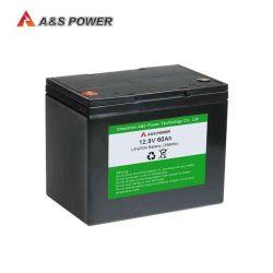 Usine 2000 cycles de 1200W 12V 12,8V 50Ah 60AH 80Ah 100AH Batterie LiFePO4 pour l'AGV/Lumière LED solaire/Mini EV/chariot de golf