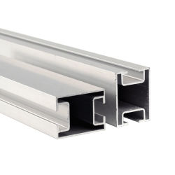 Structure en aluminium, le solaire le rail en aluminium pour le support de montage solaire
