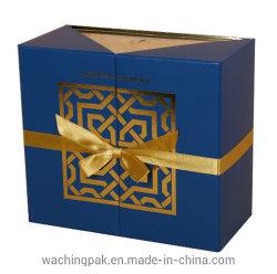 新しいデザイン紫系統の金紫外線ロゴ包装ボックス香水の収納箱の香水の表示パックボックス