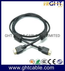 Chapado en oro 24K de 1,2 m de HDMI con trenzado Nylon 1,4 V 2.0V 1080P 3D