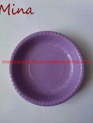 Impresso em papel reciclado de cor única placa alimentar