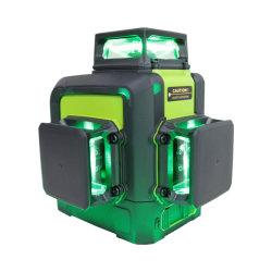 Automatische zelf-Nivelleert 360 Roterende Multi Dwars Groene Magneet 12 Hulpmiddelen van de Bouw van het Niveau van de Laser van Lijnen 3D