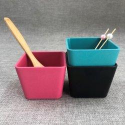 Gute verkaufenchina-Fabrik-Zubehör-Melamin-mischende Filterglocke-Bambusfaser-Essgeschirr-Raum-Salat-Filterglocke