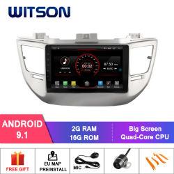 """Grand écran 9"""" Witson Android 9.1 DVD de voiture pour Hyundai Tucson/IX35 (basse) 2016"""