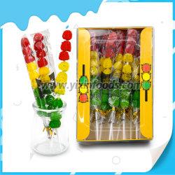 3개의 색깔 공 모양 신호등 고무 같은 Lollipop
