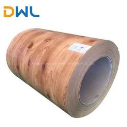 Prix bon marché premier bobines PPGI Finition en bois