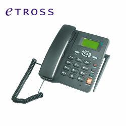 هاتف لاسلكي ثابت مزدوج SIM GSM للمنزل أو المكتب استخدم