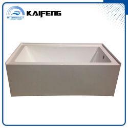 Дешевые 60-дюймовый акриловый из одного куска ванна с фартук (KF-79X)