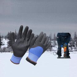 باردة مقاومة مزدوجة ينخفض [سندي] نتريل شتاء عمل قفّاز