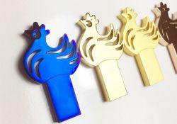 De slanke MiniFlits USB 2.0 en 3.0 van het Geheugen van de Kip van de Dierenriem van het Metaal