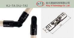 Junta de metal de ângulo ajustável de dois tubulações