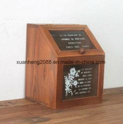 Côté boîte de rangement en bois Cadeaux d'artisanat avec fenêtre