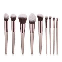 Erstklassige synthetische BerufsRetarctable kosmetische Kabuki Großhandelsbasis-ovale Gesichts-Reinigungs-Puder-Augen-Schatten-Verfassungs-Pinsel