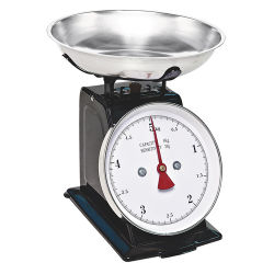 機械スケールの台所重量を量るスケール