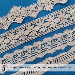 Décoratifs Dentelle au crochet Dentelle de coton de produits chimiques pour les robes (C0183)