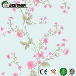 Papel de parede de PVC com belas Padrão de flores para decoração