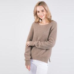 2019-New maglione sostenibile mescolato merino Ultrafine delle signore delle lane di arrivo 90% & dei lavori o indumenti a maglia dei yak di 10% (macchina lavabile), maglione prezioso dei yak