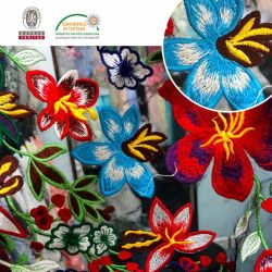 Multi merletto del prodotto chimico del tessuto del merletto della maglia del ricamo di colore