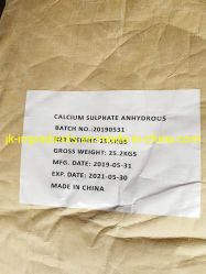 Le sulfate de calcium anhydre SAE. No 7778-18-9 Sulfate de calcium
