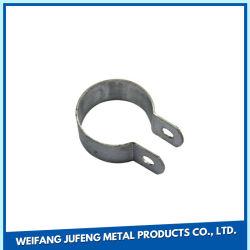 Ficha de estamparia de metal personalizadas/folha de metal do suporte do tubo de fixação de fabricação