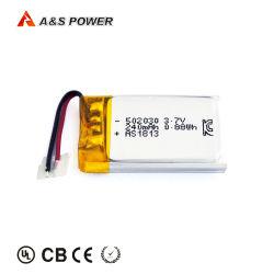 На заводе UL/CB/Kc наименьший 502030 3,7В Lipo аккумулятор 250 Ма * ч 240 Мач Литий-ионная полимерная батарея
