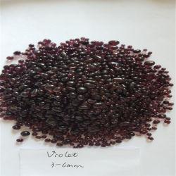 Cordão fornecedor fornecer 3-6mm Violet Esferas de vidro para cortinas com rebordo