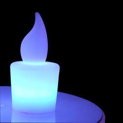 재충전용 불꽃 없는 LED 초 모양 7 색깔 변경 훈장 LED 램프 초