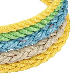 PP/Polypropyleneの麻ひも釣のための3/4/8/12本の繊維のDanlineのプラスチック麻ひもロープ