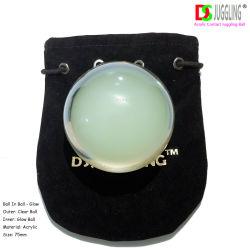 acryl het Jongleren met Conatct van 75mm Bal met bal-Zak de Vastgestelde Magische Bal van de Verpakking