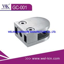 Acero inoxidable 304 y 316 la abrazadera de vidrio pasamanos para conexiones (GC-001).
