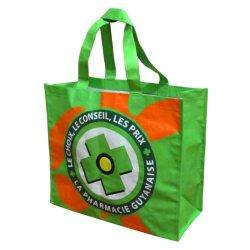 Portador de la moda de hombro de compras de comestibles de la bolsa de tejido de polipropileno laminado