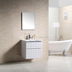 Pendurados na parede branca moderno mobiliário de banho de PVC por 60cm