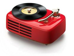 Retro Lautsprecher u. FM Radio mit 2.0 Kanal drahtlosem Bluetooth Hifiaudio