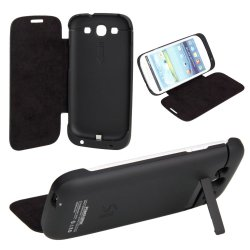 3200mAh external Backup Battery Charger Fall Stand für Samsung Galaxy S3 I9300