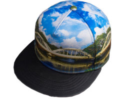 A transferência de calor personalizado de boa qualidade de impressão por sublimação de Hip Hop Encaixem Televisão Bill Hat