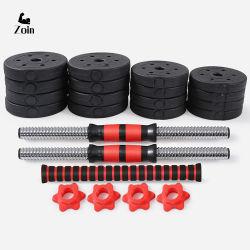 Регулируемый мужчин фитнес-оборудование гантели 10 15 20 30 40 50 кг для подъема веса пластиковый цемент гантель