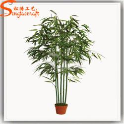 Decoração de jardim produto plástico Bonsai artificial de bambu da sorte