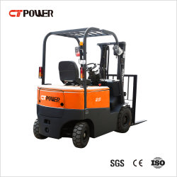 Carrello elevatore idraulico di massima del camion dell'elevatore di funzionamento della batteria del terreno diesel elettrico a 4 ruote della benzina