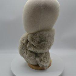 Peles de coelho Domingo Fios Angora suave e confortável lenço de pelúcia mulheres Outono Inverno Quente Solid-Color Espessadas Pescoço Xale Curto