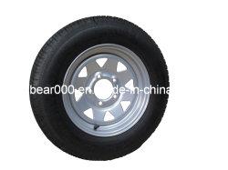 Rodas do reboque 15X6 montado com pneu diagonal