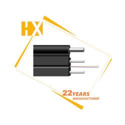 Piscina exterior de aço plana 1 Core 2 Core a fibra óptica G657UMA QUEDA DE FTTH para equipamento de Fibra Óptica ONU Gpon Epon