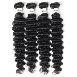 10Grau 100% Uvas Indian/Brasileiro/Virgem Peruano/Remy de cabelo humano na trama Cor Natural com onda profunda peruca