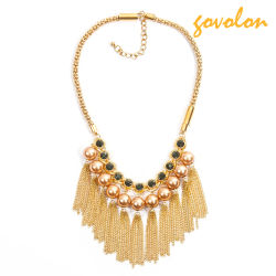 Aleación de oro collar con perlas decorado