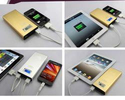 2014 Chargeur de téléphone mobile portable le plus récent, écran LED de puissance double de la Banque pour port USB Mobilephone, l'iPad (SMS-PB046)