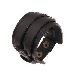 Die alten übertriebenen Rom-Artmens-Leder-Armbänder strickten miserabele breite Armbandwristband-Kreisstulpe Esg13959