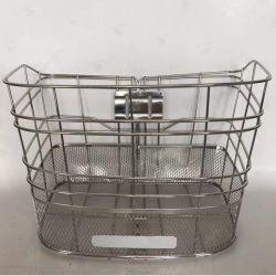 方法Stainessの自転車の部品のStainessの鋼線そして網が付いている鋼鉄前部自転車のバスケット