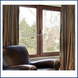 نافذة الطباعة بالألوان الخشبية UPVC ذات النمط الأوروبي