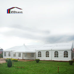 10X30m خارجي Family Party Marquee PVC مغلف مقاومة للماء عالي الجودة خيمة حدث كنيسة ألومنيوم