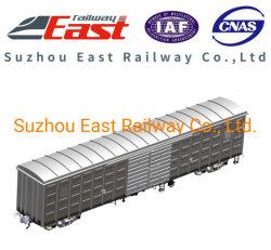 70t général couvert wagon de fret ferroviaire multifonction de boîte/voiture
