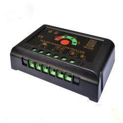 Regolatore solare dell'indicatore luminoso di funzione del USB della visualizzazione di LED e del regolatore 12V/24V PWM di tempo